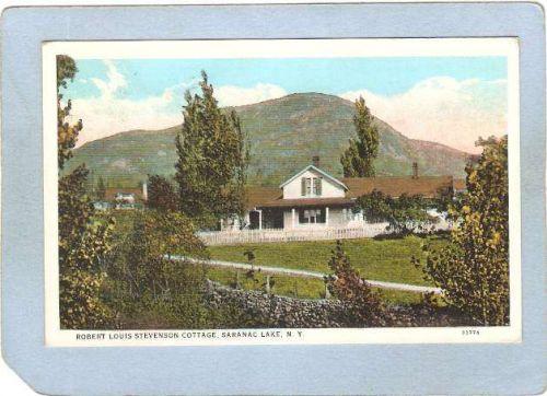 New York Saranac Lake Robert Louis Stevenson Cottage ny_box5~1942