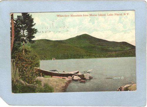 New York Lake Placid Whiteface Mountain From Morse Island ny_box5~1745