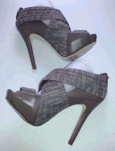 ALDO Casual Stiletto Open-Toe Platform SHOES Beige Faux Leather Women's 6.5 B/M
