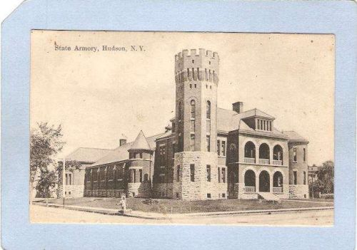 New York Hudson State Armory Street Scene Intersection ny_box3~1229