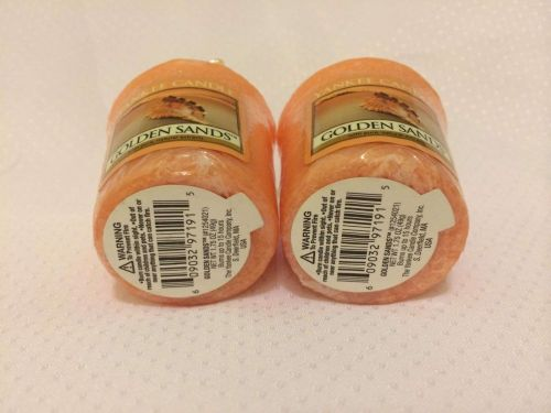 Yankee Votive Candle, Set Of 2, Golden Sands Scent! Authentic Brand Name