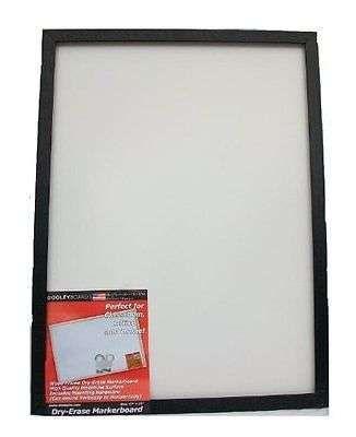 Black Framed Dry Erase Board 17x23 Inch Black Whiteboard Marker Office Presentat