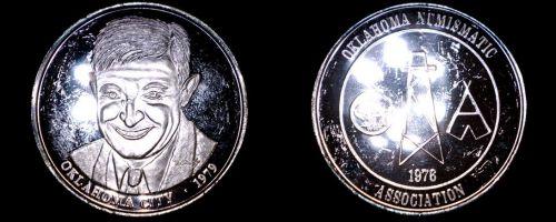 1979 Oklahoma Numismatic Association 1 oz Silver Proof Round