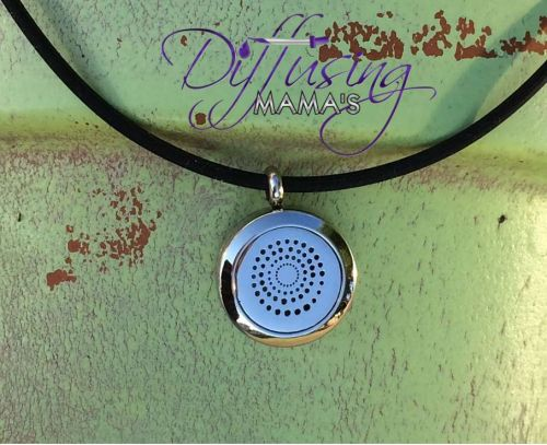 Small Spiral Diffusing Mama's Brand Essential Oils Aromatherapy Locket Necklace