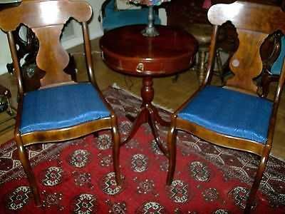 chairs and drum table = 3 piece set