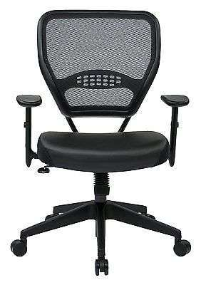Office Chair Computer Desk Air Grid Back Managers Leather Seat Tilt Control