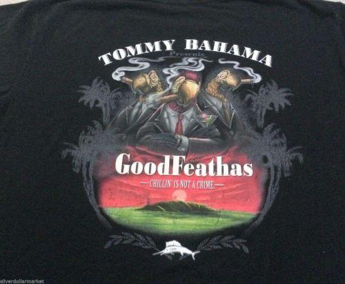 "TOMMY BAHAMA Mens Graphic Tee T-SHIRT sz L ""GOOD FEATHAS"" - RARE"