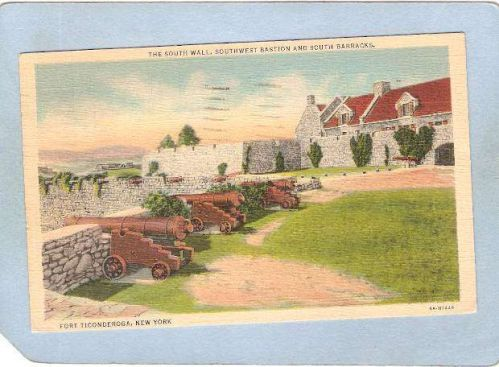 New York Fort Ticonderoga The South Wall Southwest Bastion & South Barrack~1632