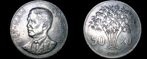 1963 Vietnamese 50 Xu World Coin - Vietnam