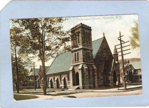 New York Norwich Episcopal Church Street Scene Intersection ny_box3~1125