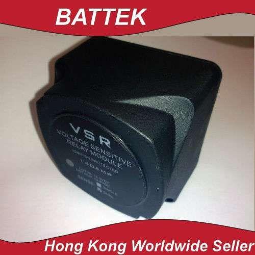 Voltage Sensitive Relay Smart Battery Isolator 12V 140A Dual Sense Solar RV ATV
