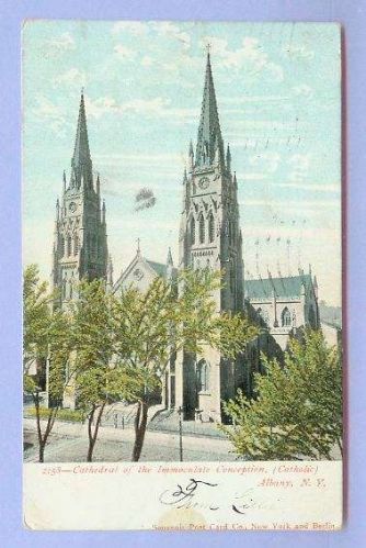 New York Albany Cathedral Of The Immaculate Conception Catholic View Of Tw~7