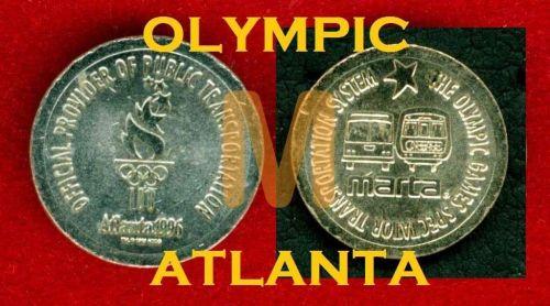 Rare SUBWAY METRO ATLANTA.OLYMPIC 1996. Transit Token.***