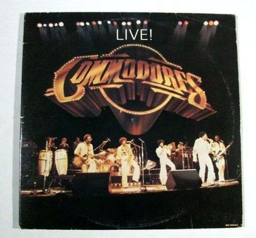 """THE COMMODORES ~ Commodores """" Live """" 1977 Double R&B / Pop LP"""