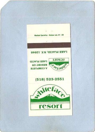 New York Lake Placid Matchcover Whiteface Resort ny_box5~1655