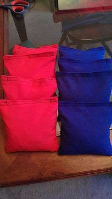 Cornhole bags - set of 8 (Red and Blue)
