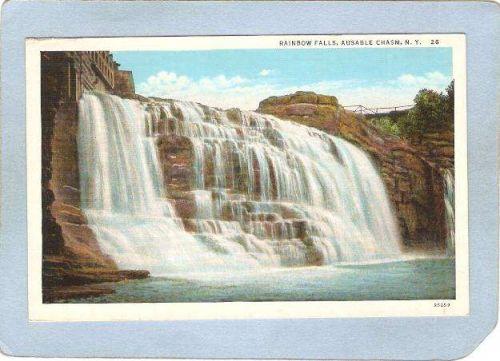 New York Ausable Chasm Rainbow Falls ny_box5~1526