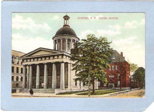 New York Auburn Cayuga County Court House Street Scene Intersection ny_box~791