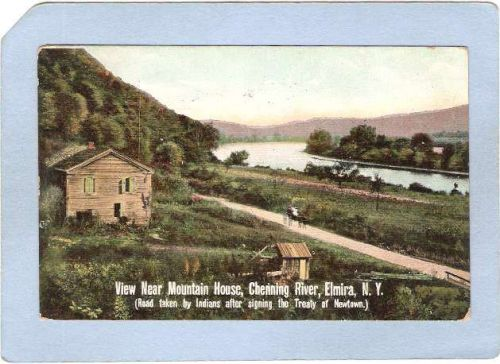 New York Elmira View Near Mountain House Chenning River River ny_box3~1019