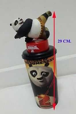 KUNG FU PANDA 2 MOVIE TOPPER CUP FIGURE TOYS + GLASSES ASIA