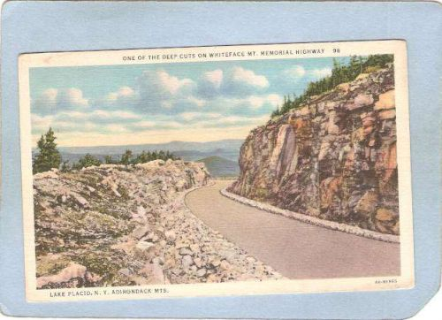 New York Lake Placid A Deep Cut On Whiteface Memorial Highway ny_box5~1698