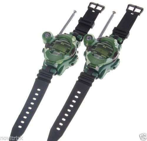 Walkie Talkie with Watch Compass Magnifying Lens Nightlight Function 2Pcs