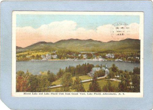 New York Lake Placid Mirror Lake & lake Placid Club From Grand View ny_box~1737