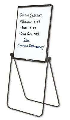 Easel Whiteboard Flipchart 27x34 Inches Reversible Black Frame Whiteboard Marker