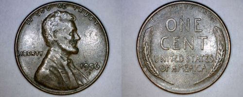 1956-D Abraham Lincoln Wheat Penny