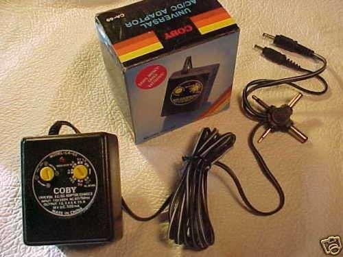 universal power adapter - 7.5v 9v 12v 500mA 0.5A - cord plug 9 12 volt PSU wire