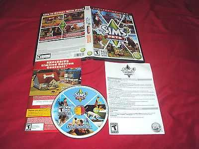 THE SIMS 3 PETS LIMITED EDITION PC & MAC DISC MANUAL INSERT ART & CASE NEAR MINT