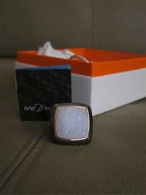 NIB Arte Argento Ring 6 Drusy Druzy Geode Sterling Silver New Box Free Shipping