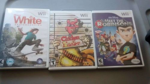 WII Games Lot, Meet The Robinsons, Shaun White Skateboarding and Chicken Blaster
