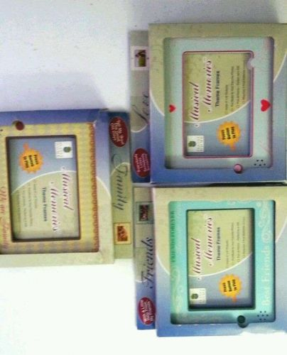 """Set: 3 NEW Photo Musical 4""""x6""""Frames-Theme: Love, Family, Friends by Planet Home"""