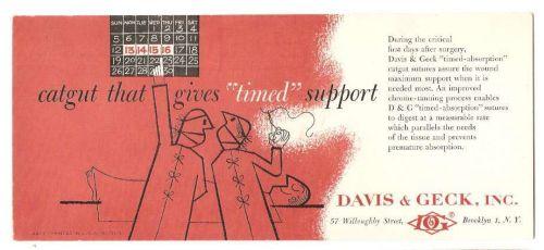 New York Brooklyn Ink Blotter Advertising Davis & Geck, Inc., 57 Willoughb~60