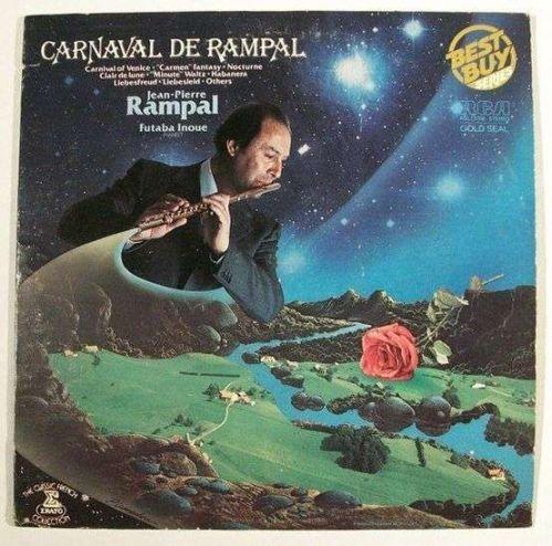 CARNAVAL DE RAMPAL ~ Jean-Pierre Rampal, flutist Futaba Inoue, piano LP