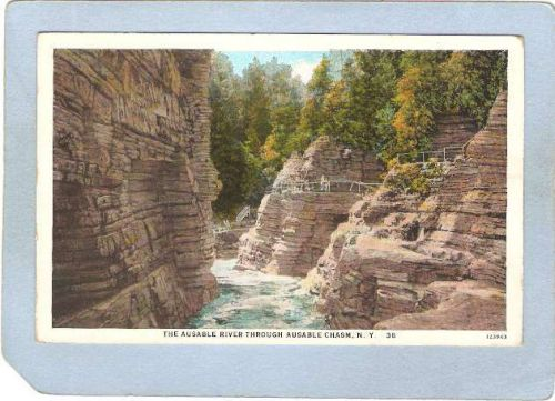 New York Ausable Chasm The Ausable River ny_box5~1495