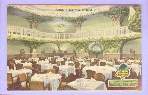 New York Buffalo Hotel Buffalo Interior View Of Arbor Dining Room ~38