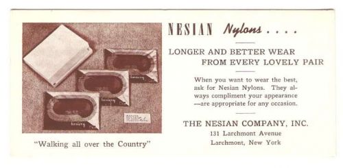 New York Larchmont Ink Blotter Advertising Nesian Company, 131 Larchmont A~57