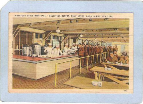 New York Camp Upton Military Cafeteria style mess hall Long Island milty_b~25