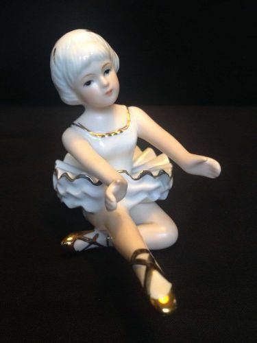 Vintage group of Porcelain Figurine ODETTE Swan Lake Ballerina's