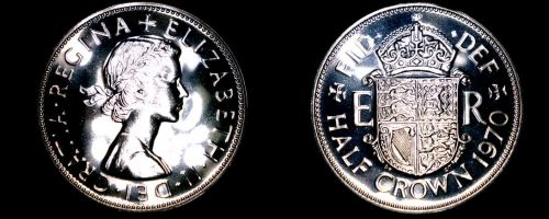 1970 Great Britain Half Crown Proof World Coin - UK