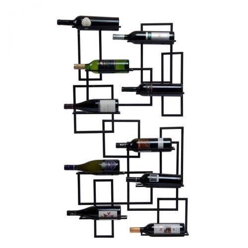 Oenophilia Mid-Century Wall-Mount Hanging Metal Wine Rack Free Shipping