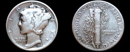 1944-P Mercury Dime Silver