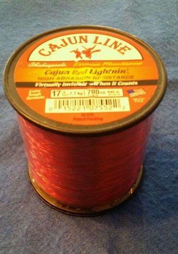 Cajun Line Red Lightnin' 700yds 17lb - Virtually Invisible - FREE SHIPPING !