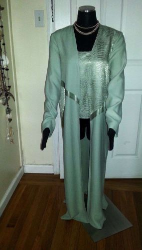 NEW Turquoise Suit: Blouse & Classy Long Blazer by Morning Side, Women's Size 12
