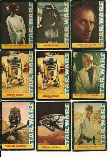 Star Wars Trading Cards Lot of 9 - Wonderbread
