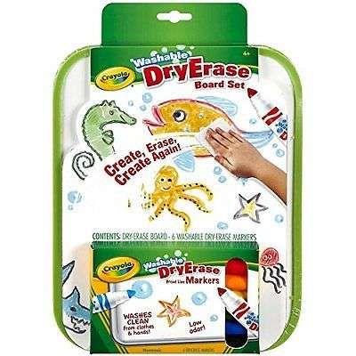 Crayola Dry Erase Go Anywhere Washable Marker Board Set Whiteboard Marker Office