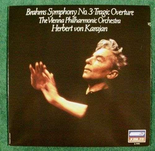 BRAHMS ~ Symphony No. 3 - Tragic Overture Herbert von Karajan Classical LP