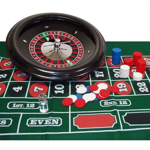 New Quality Deluxe Casino 18 inch Professional Style Roulette Set Gaming Game